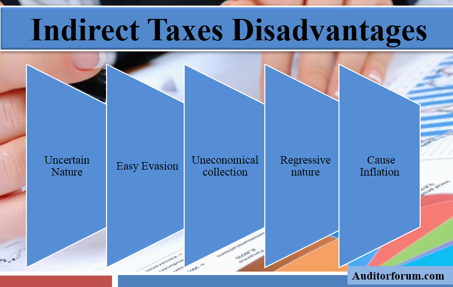 disadvantages of indirect taxes