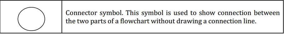 Connector symbol flowchart